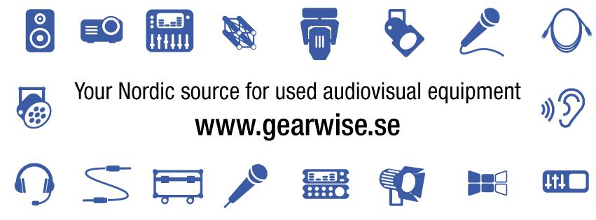 Gearwise AV & Stage Used Equipment Sales