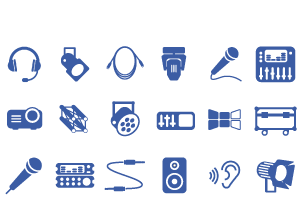 used av stage equipment icons